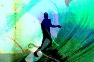 Surfing Fun  | 100cm X 150cm | Prijs op Aanvraag
