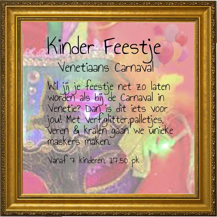 Kinderfeestje Venetiaans masker feestje